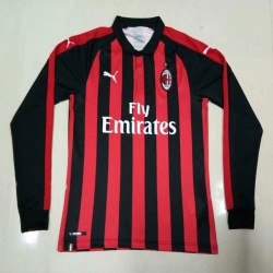 AC Milan 2018-19 Home Long Sleeve Soccer Jersey