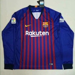 Barcelona 2018-19 Home Long Sleeve Soccer Jersey