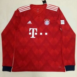 Bayern Munich 2018-19 Home Long Sleeve Soccer Jersey