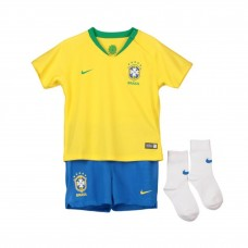 Brazil 2018 Home Kit Football Shirts Kids