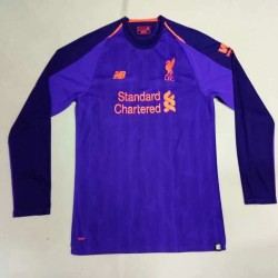 Liverpool 2018-19 Away Long Sleeve Soccer Jersey