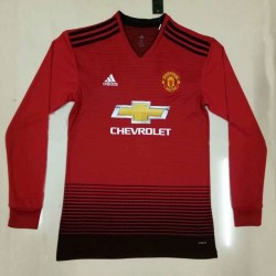 Manchester United 2018-19 Home Long Sleeve Soccer Jersey
