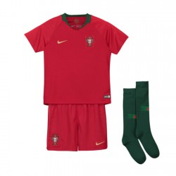 Portugal 2018 Home Kit Football Shirts Kids