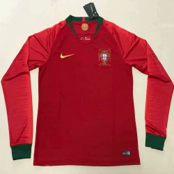 Portugal 2018-19 Home Long Sleeve Soccer Jersey