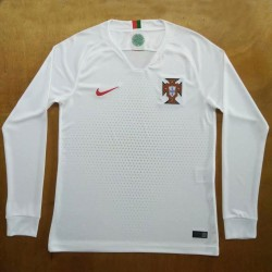 Portugal 2018-19 Away Long Sleeve Soccer Jersey