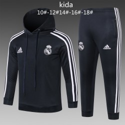 Kids Real Madrid 2018-19 Hoodie Suits