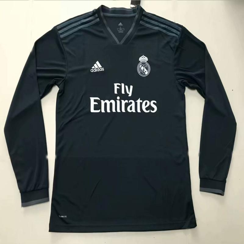 Real Madrid 2018-19 Away Long Sleeve Soccer Jersey