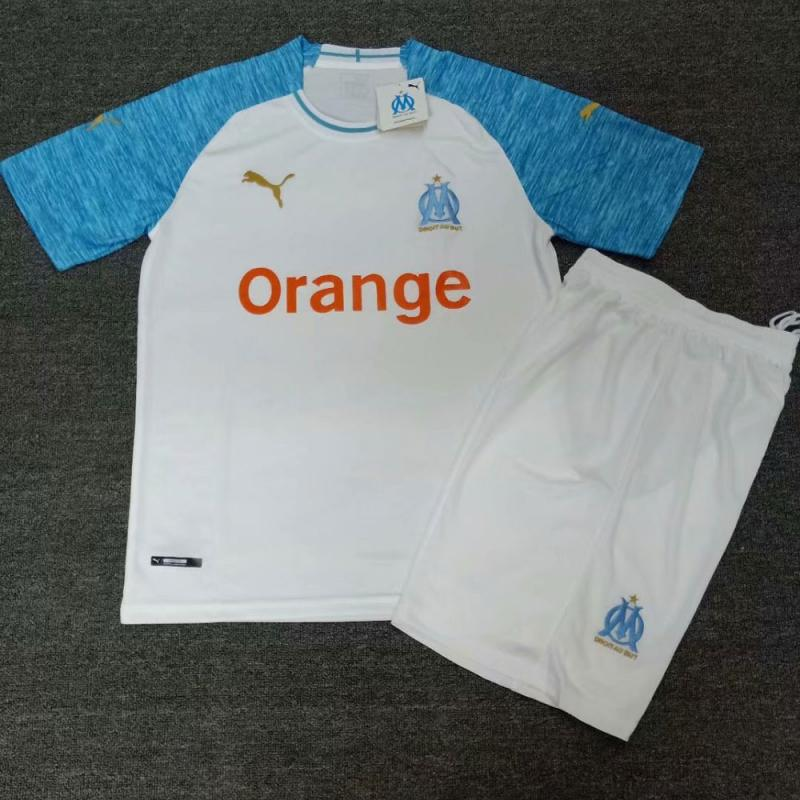 Olympique Marseille  2018-19 Home  Shirt Soccer Jersey Kits